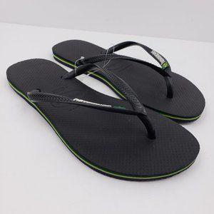 NEW Havaianas Brazil Womens Size 11/12 Flip Flops